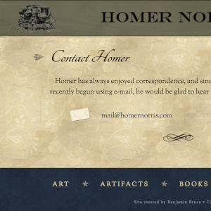 Homer Norris website screenshot